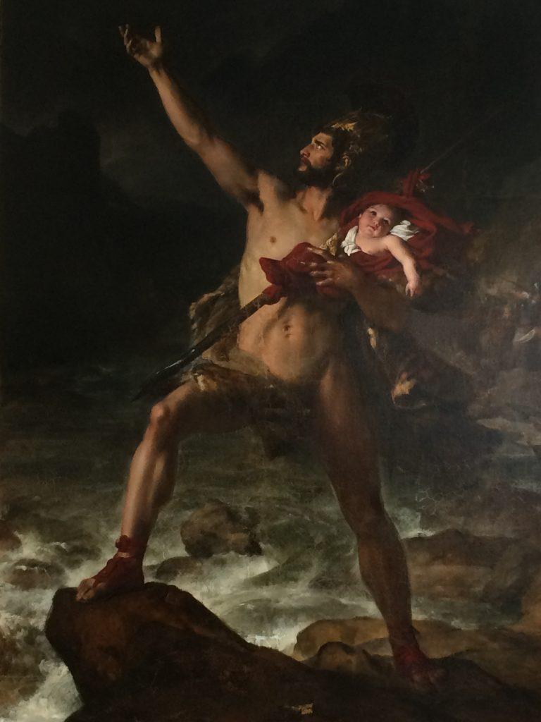Fin de la restauration de Métabus tableau de Léon Cogniet