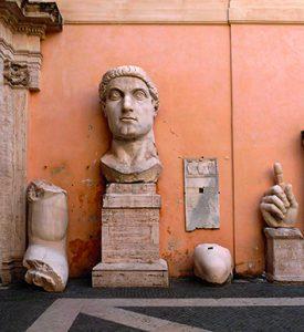 tête colossale de Constantin