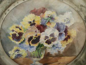 aquarelle les pensees 1948