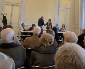 Mme le Maire s'adresse aux Amis ( AG février 2013)